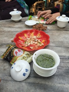 Afternoon tea, China style in People's Park